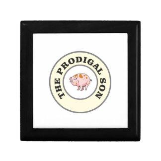 porc prodigue petite boîte à bijoux carrée