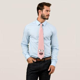 Porc rose drôle cravate