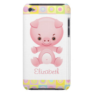 Porc rose mignon fait sur commande de Kawaii Étuis Barely There iPod