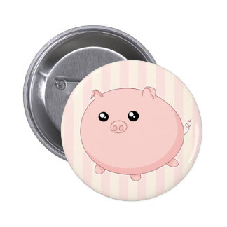 Porc rose potelé mignon de Kawaii Badge Rond 5 Cm