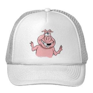Porc rose sur les produits personnalisables casquette trucker