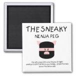 Porc sournois de Ninja Magnets Pour Réfrigérateur