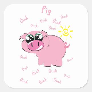 porc sticker carré