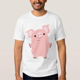 Porc tenant le T-shirt (conception sur l'avant)