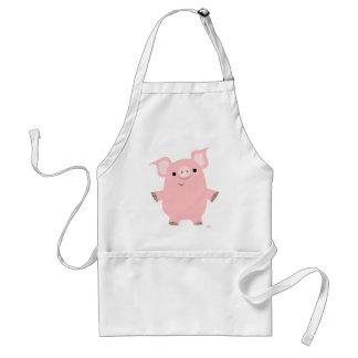 Porc tenant le tablier