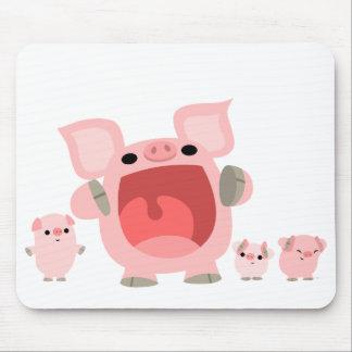 Porcs de cri Mousepad de bande dessinée :) Tapis De Souris