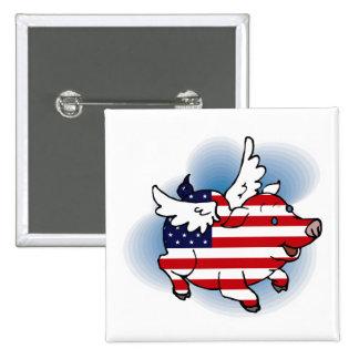 Porcs patriotiques de vol - Th des 4-4 juillet de  Badge