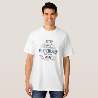 Port Chester, New York 150th Anniv. T-shirt blanc