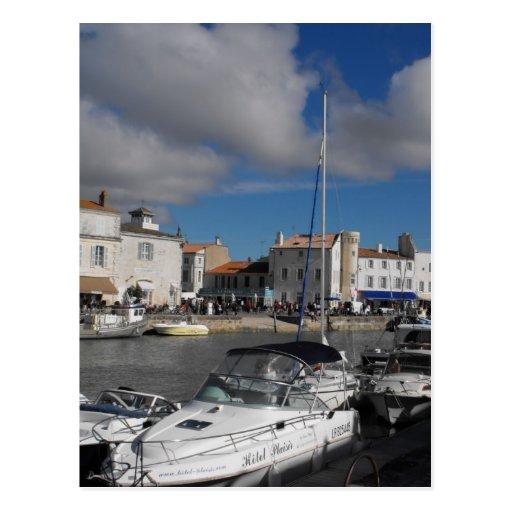 Port chez Ile de Re, France Carte Postale