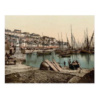 Port de Brixham, Devon c.1895 Carte Postale