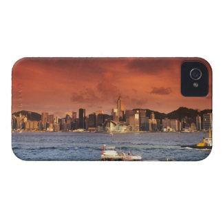 Port de Hong Kong au coucher du soleil Coque iPhone 4