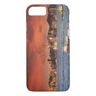 Port de Hong Kong au coucher du soleil Coque iPhone 7