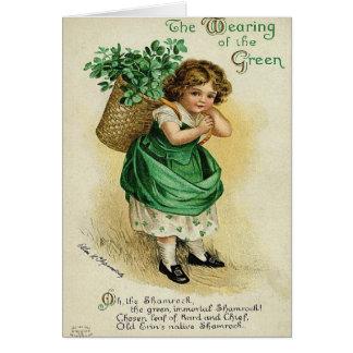 Port de la carte du jour de St Patrick vert