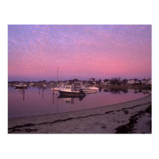 Port d'Edgartown au vignoble de Marthas d'aube Carte Postale
