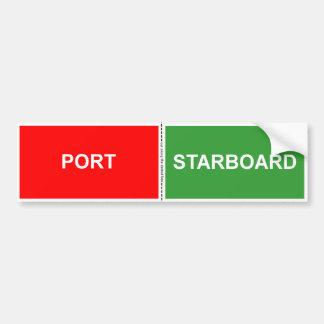 Port et autocollant droit
