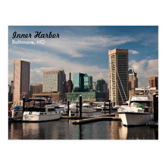 Port intérieur de Baltimore Carte Postale