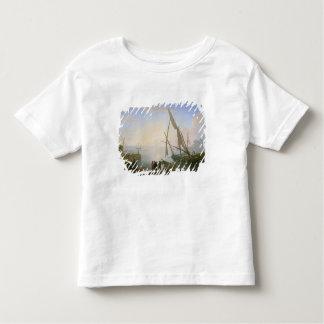 Port maritime avec le coucher du soleil t-shirt pour les tous petits