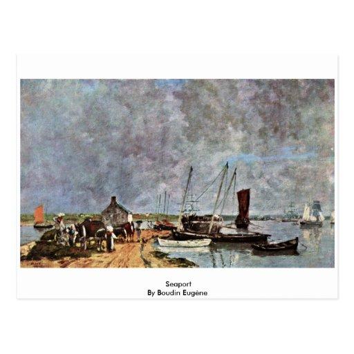Port maritime par Boudin Eugène Carte Postale