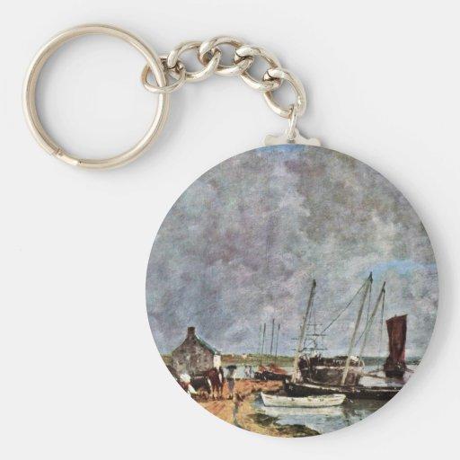 Port maritime par Boudin Eugène Porte-clefs