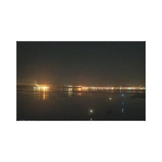Port Townsend à la toile enveloppée par nuit