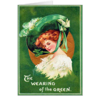 Port vintage de la carte du jour de St Patrick