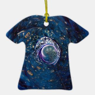 Portail d'hiver ornement t-shirt en céramique