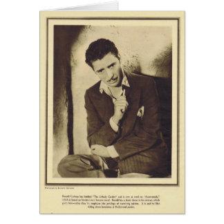 Portait 1931 de Ronald Colman Carte De Vœux