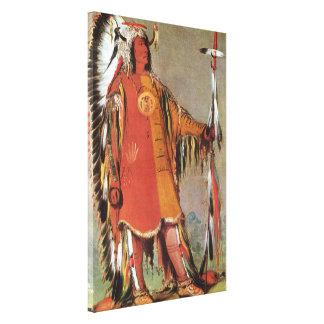 Portait de chef indien Mato-Tope par George Catlin Toiles Tendues Sur Châssis