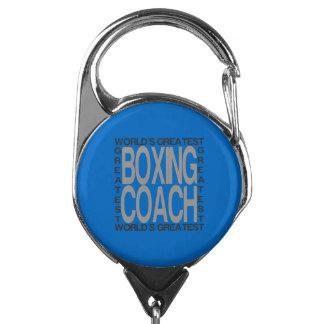 Porte-badge Le plus grand entraîneur de boxe des mondes