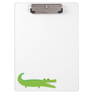 Porte-bloc Alligator vert mignon