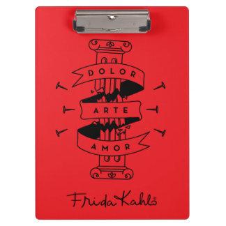 Porte-bloc Amour d'art de douleur de Frida Kahlo |