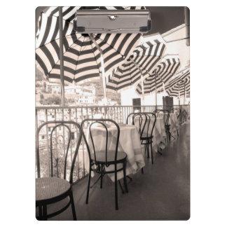 Porte-bloc Balcon étrange de restaurant, Italie