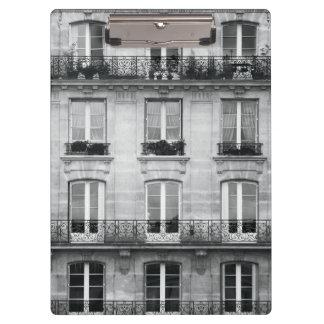 Porte-bloc Bâtiment vintage noir et blanc du voyage   à Paris