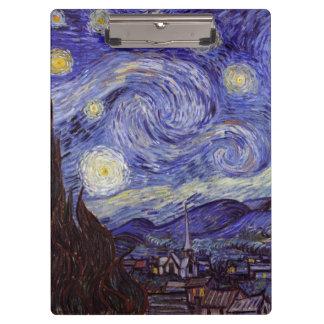 Porte-bloc Beaux-arts de cru de nuit étoilée de Vincent van