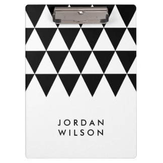 Porte-bloc Blanc avec le minimaliste moderne de triangle