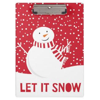 Porte-bloc bonhomme de neige rouge et blanc contemporain