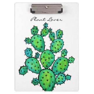 Porte-bloc Cactus épineux d'aquarelle magnifique