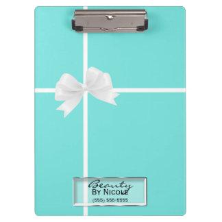 Porte-bloc Charme blanc bleu de damassé d'arc de Tiffany