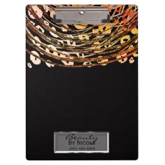 Porte-bloc Charme orange en bronze de léopard de guépard