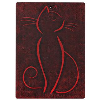 Porte-bloc Chat rouge