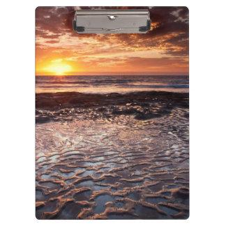 Porte-bloc Coucher du soleil à la plage, la Californie
