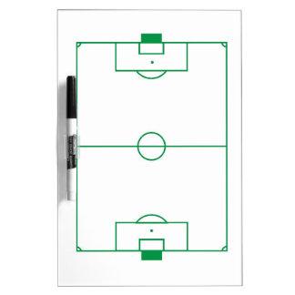 Porte - bloc de terrain de football tableaux blancs  effaçables à sec