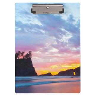 Porte-bloc Deuxième plage au coucher du soleil, Washington