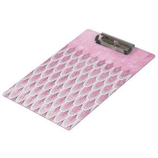 Porte-bloc Échelles de poissons roses brillantes de sirène de