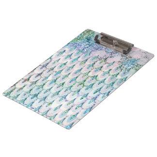 Porte-bloc Échelles de poissons turquoises iridescentes de