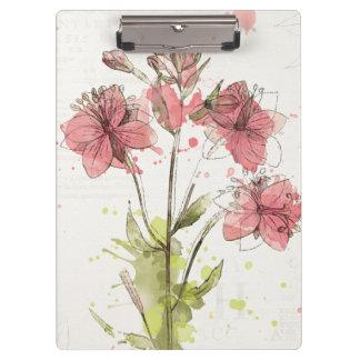 Porte-bloc Éclaboussure rose foncée florale