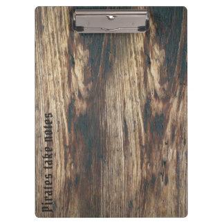Porte-bloc Fibre de bois faite sur commande des textes de