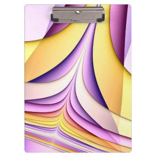 Porte-bloc Fractale colorée par pastel. Jaune, rose, pourpre