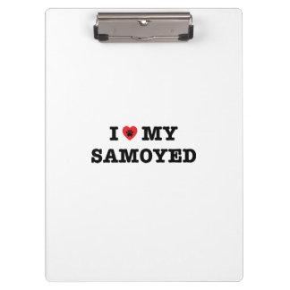 Porte-bloc I coeur mon Samoyed