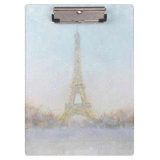 Porte-bloc Image de l'aquarelle   d'Eiffel Towe